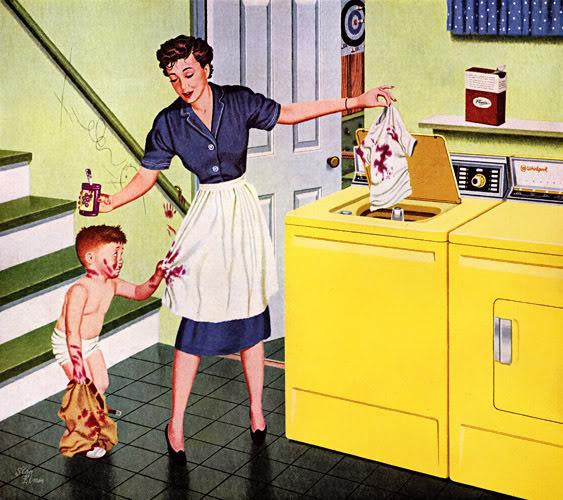 Mom doing Laundry at TidyMom.net