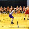 Allison shooting basketball