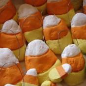 Candy Corn Salt Dough Ornaments