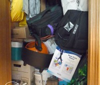 Inside closet lower