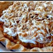 Layered Walnut Pumpkin Pie at TidyMom.net