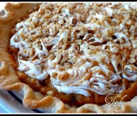 Layered Walnut Pumpkin Pie at TidyMom.net