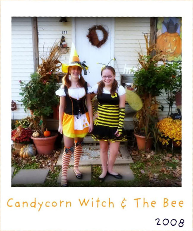 Candycorn Witch and Bee Costume