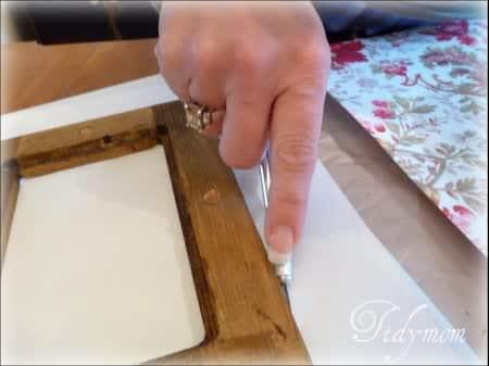 cut paper DIY frames