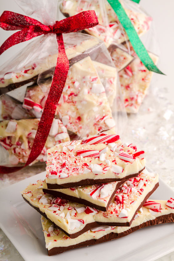Holiday Chocolate Peppermint Bark is easy, delicious and makes a great holiday gift. Easy recipe for Christmas, Valentines Day, or any day at TidyMom.net
