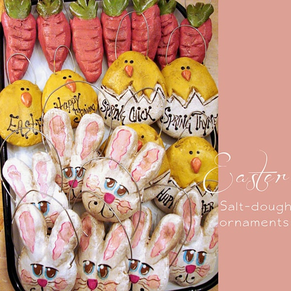 Easter Salt Dough Ornaments