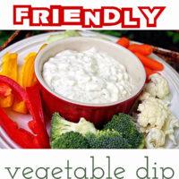 Diet Friendly Vegetable Dip recipe at TidyMom.net