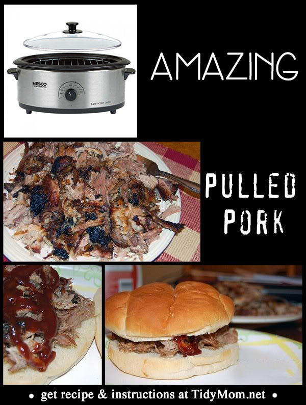 Amazing Pulled Pork Recipe at TidyMom.net