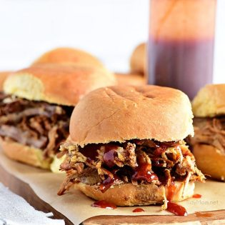 This Amazing Pulled Pork recipe is made in a slow cook roaster for a tender, juicy pulled pork sandwich that is always a big hit! Get this pulled pork recipe at TidyMom.net