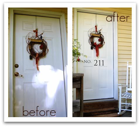 front door before and after cleaning - at TidyMom.net