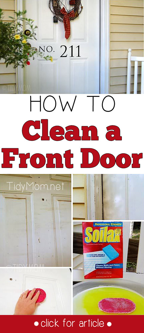 Clean exterior doors invite positive energy and prosperity into the home.  Learn How to Clean a Front Door at TidyMom.net