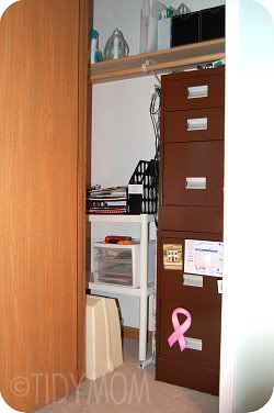 office closet at TidyMom.net