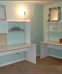 painted office desks