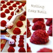 how to roll cake balls or cake pops at TidyMom.net