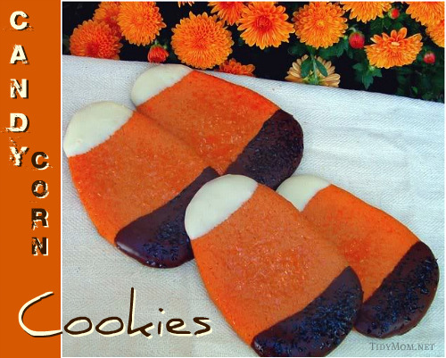 Easy Candy Corn Sugar Cookies at TidyMom.net