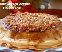 upside down apple pecan pie recipe at TidyMom.net
