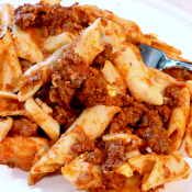 Three Cheese Baked Mostaccioli