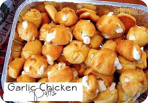 Garlic Chicken Puffs