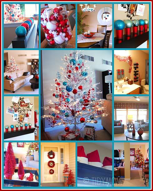 Turquoise and  Red Christmas