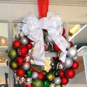 ornament ball wreath