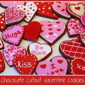 Chocolate Valentine cookies