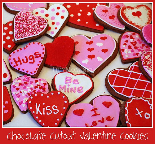 Chocolate Valentine cookies