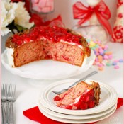 Sweetheart Cherry Cake