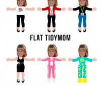Flat Friends!! Print a Paper Doll of yourself or your kids! Pick one of 6 outfits and print off for fun! Learn more at TidyMom.net