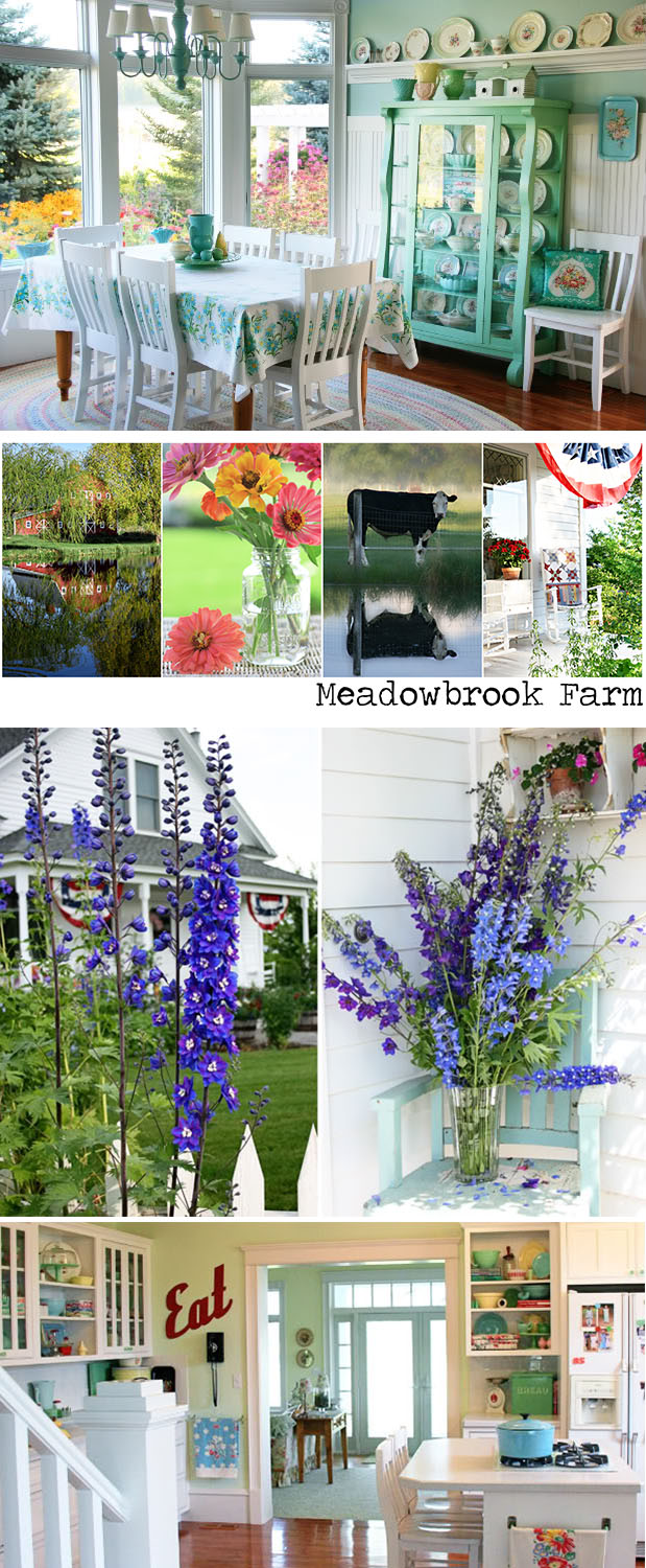 A suburban mom, along with her husband and 3 boys, decided to leave the rat race behind for a slower pace and a simpler life. Meadowbrook Farm is about her faith, family, friends, decorating, cooking, gardening, photography, antiquing, and everyday life.