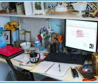 not so tidy desk