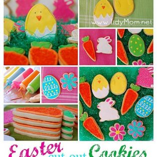 Easter cut out cookie collage