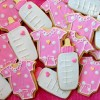 baby shower cut cookies at TidyMom