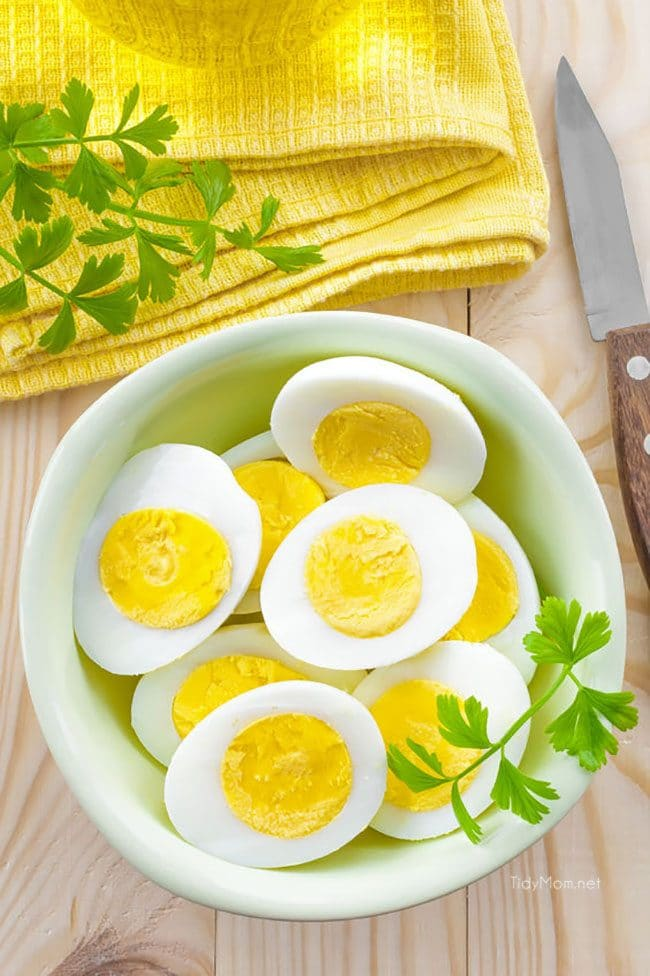 Learn how to cook PERFECT HARD BOILED EGGS every time at TidyMom.net