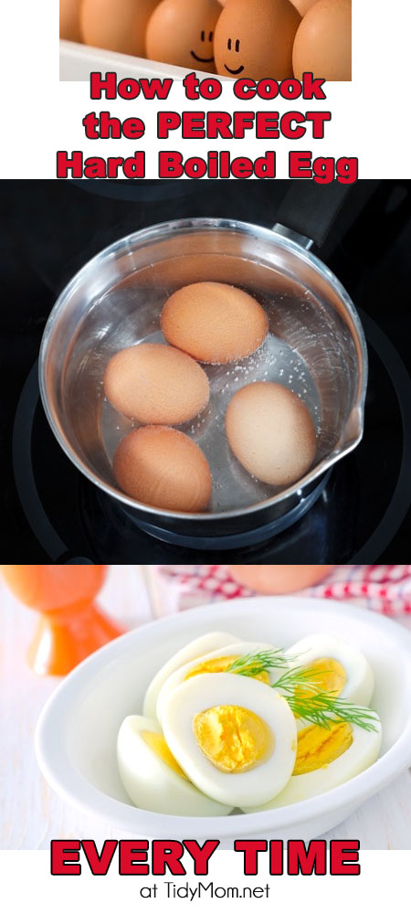 How to cook the perfect hard boiled egg every time. at TidyMom.net