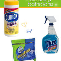 Favorite products for cleaning bathrooms at TidyMom.net