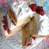 Fresh Strawberry Layer Cake recipe at TidyMom.net