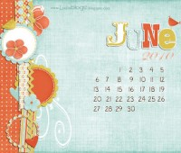 Leelou Blogs free computer desktop calendar June image