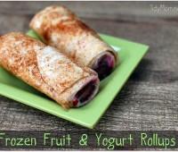 Frozen Fruit and Yogurt rollups