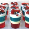 Patriotic Layered Jello Cups
