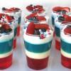 Patriotic Layered Jello Cups