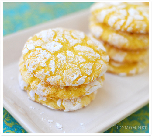 Lemon Burst Cake Mix Cookies