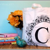 Monogram stenciled bag