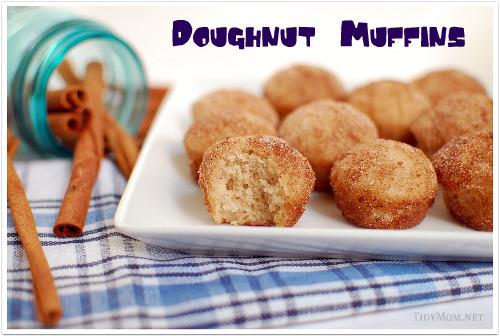 Cinnamon and Sugar Doughnut Muffins | TidyMom