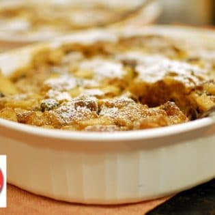 Apple Peanut Butter Bread Pudding