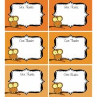 Free Thanksgiving Printable Party Labels featured at TidyMom.net