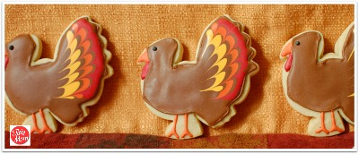 Decorated #Thanksgiving Turkey Cookies at TidyMom.net