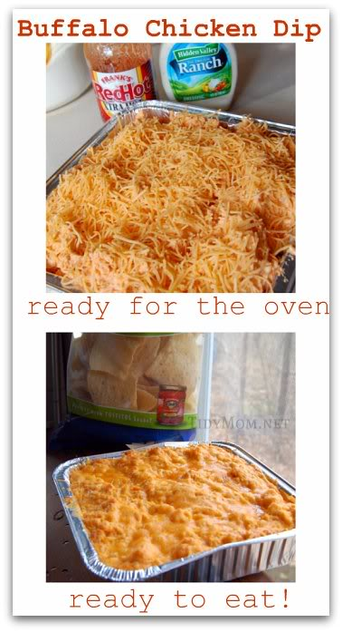 Buffalo Chicken Dip recipe at TidyMom.net