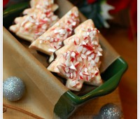 Christmas tree Peppermint bark
