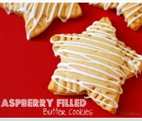 Raspberry cookies titled