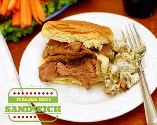 Italian Beef Sandwich Recipe at TidyMom.net